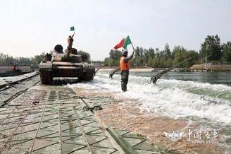 我舟桥部队赴俄比赛运载96坦克