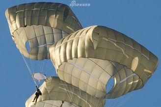 美陆军空降兵冰天雪地跳伞训练