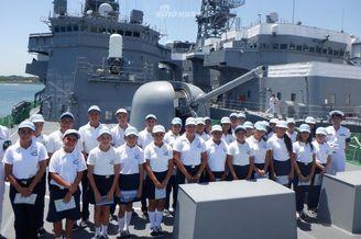 日军舰现身中美洲访问危地马拉
