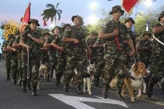 尼加拉瓜建军节组织大规模阅兵