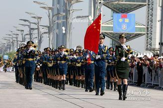 上合组织军乐巡游表演在京举行