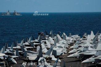 美航母又携日本海自赴南海军演