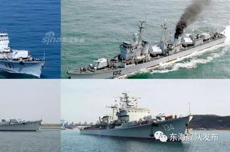 东海舰队某驱逐舰支队与国同岁