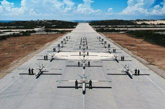 以色列空军无人机部队集中展示