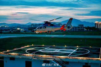 直击舰载直升机跨昼夜训练