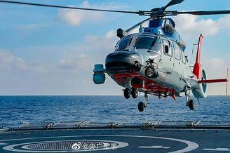 舰载直升机训练高清大图来了