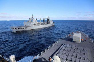 中俄海上联合2021联合军演开幕