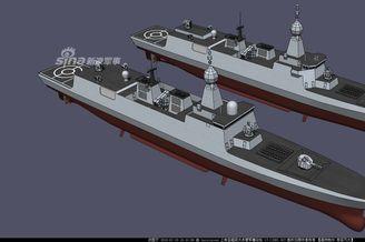 我军054B护卫舰最新CG神似055