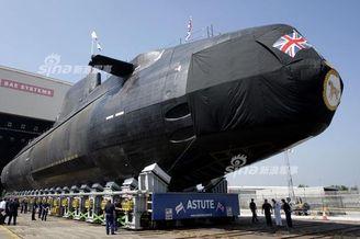 英国最强核潜艇首次下潜测试