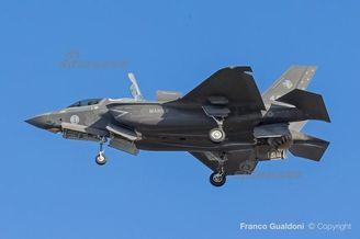 意大利造F35B首着海军涂装亮相