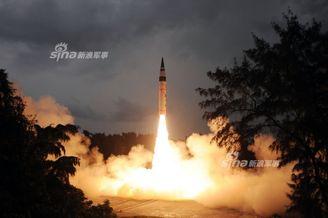 印度烈火5洲际导弹再成功发射
