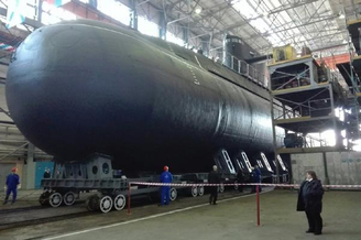 俄军第二艘拉达级潜艇终于下水