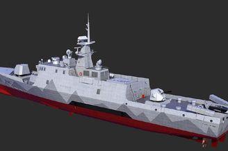 网友CG畅想中国出口轻型护卫艇
