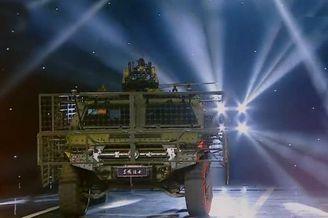 我猛士突击车装备柔性格栅装甲