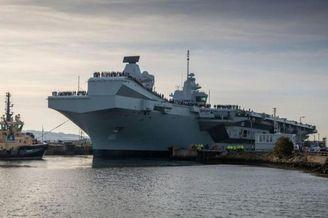 英海军威尔士亲王号航母首航
