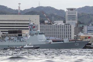 日本人镜头下的中国海军太原舰