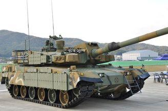 韩国首尔防务展大秀国产K2坦克