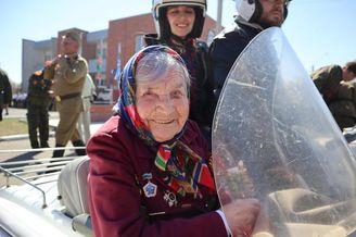 百岁老兵亮相卫国战争庆祝活动