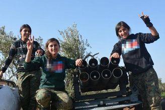 库尔德女兵有一中国神器骚扰土