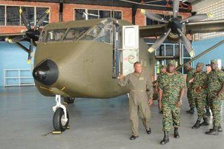 圭亚那空军新飞机造型如车厢