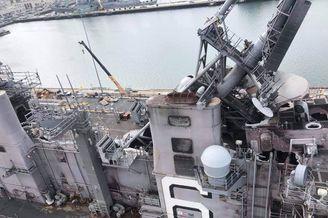 美准航母号火灾后密集阵报废