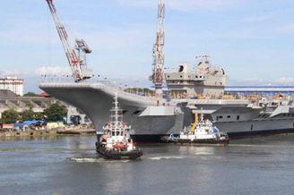 印度首艘国产航母再次试车