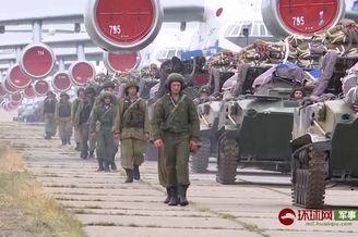 俄军伊尔76运输机上演大象漫步