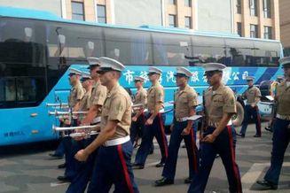 美海军陆战队军乐团南昌奏乐