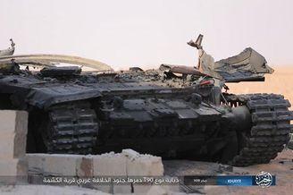 叙政府军一辆俄制T90被打爆