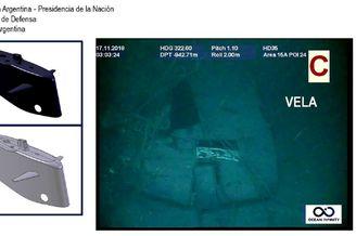 阿根廷失事潜艇最新水下照曝光