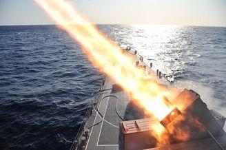 日远洋训练舰队射完导弹返航