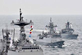 北海舰队就够!韩国海军秀实力