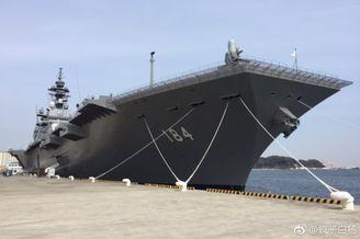 日本最大准航母加贺号最新照