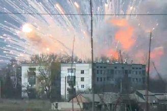 乌克兰军火库爆炸:弹药随意放