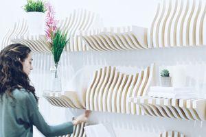 能变形的壁挂书柜